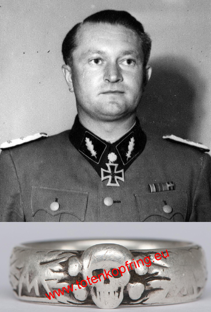 SS-Totenkopfring Karl ULLRICH 20.4.1936 LAST COMMANDER OF SS-DIVISION WIKING!