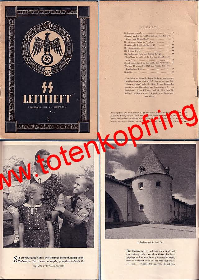 Leitheft with SS-Totenkopfring 1943