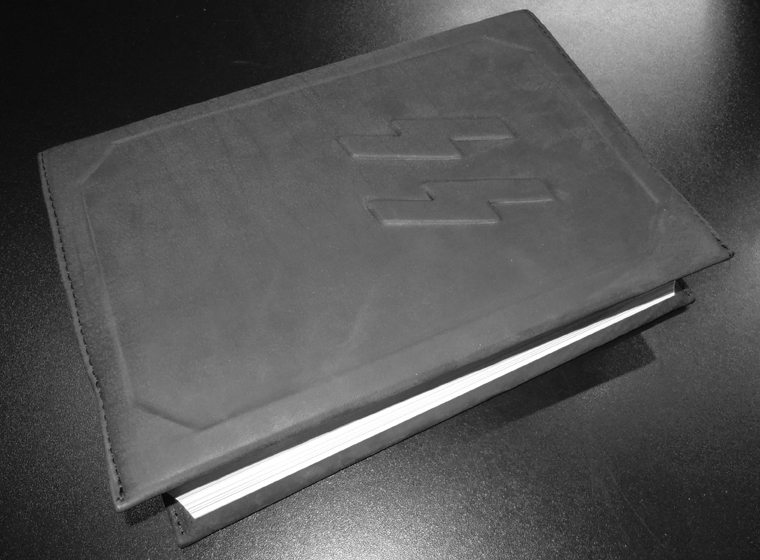LEATHER COVER for the Book SS-TOTENKOPFRING - Himmleruv prsten cti