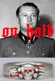 ON HOLD - SS-Totenkopfring Karl ULLRICH 20.4.1936 LAST COMMANDER OF SS-DIVISION WIKING!